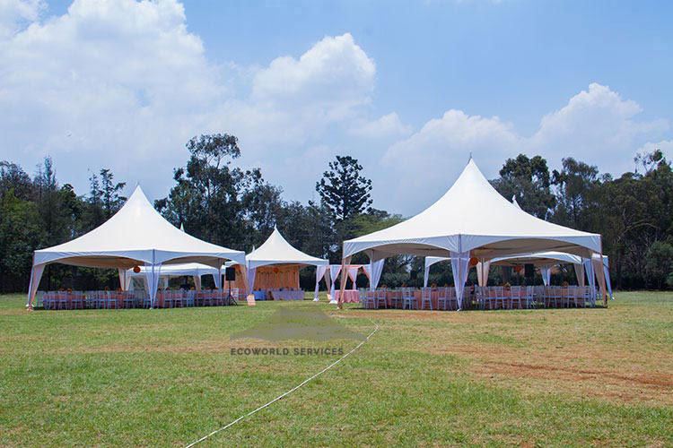Ecoworld Hexagonal tent1 - Tents hire in Kenya