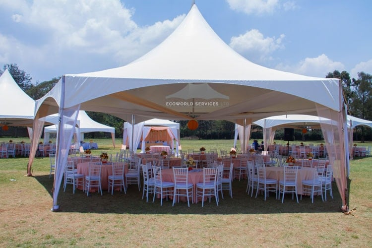 Ecoworld Hexagonal tent2 - Tents hire in Kenya