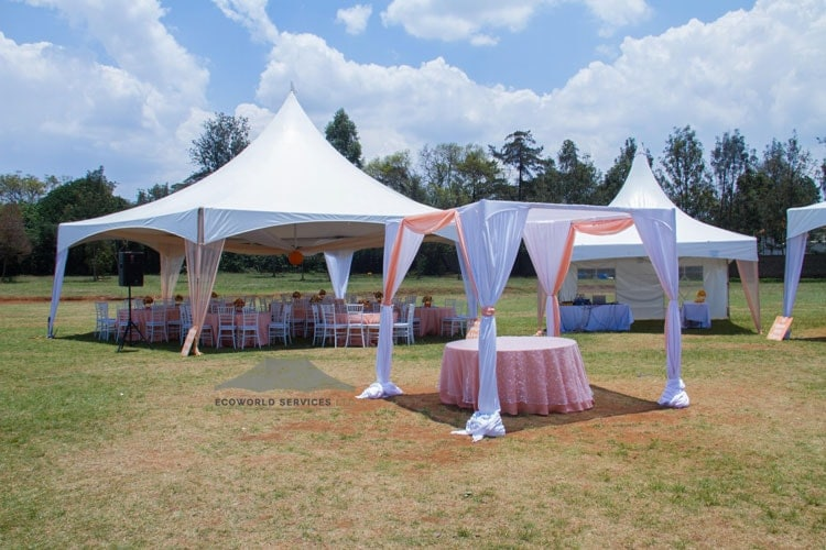 Ecoworld Hexagonal tent5 - Tents hire in Kenya