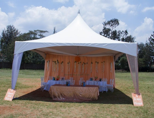 Ecoworld Hexagonal tent6 - Tents hire in Kenya
