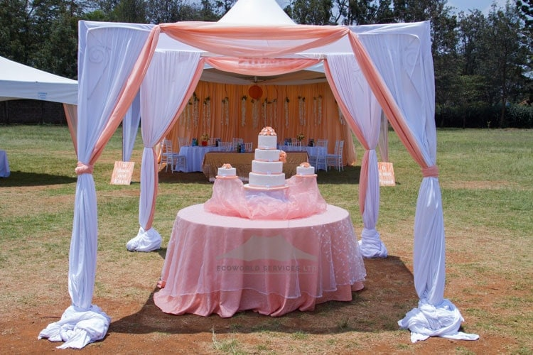 Ecoworld Hexagonal tent8 - Tents hire in Kenya