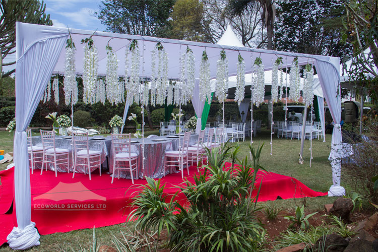 Ecoworld Canopies Tent3 - Tents hire in Kenya