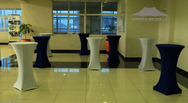 Ecoworld Cocktail Tables - Tables hire in Kenya