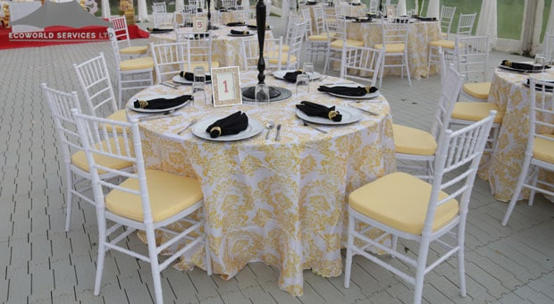 Ecoworld Round Table - Tables hire in Kenya