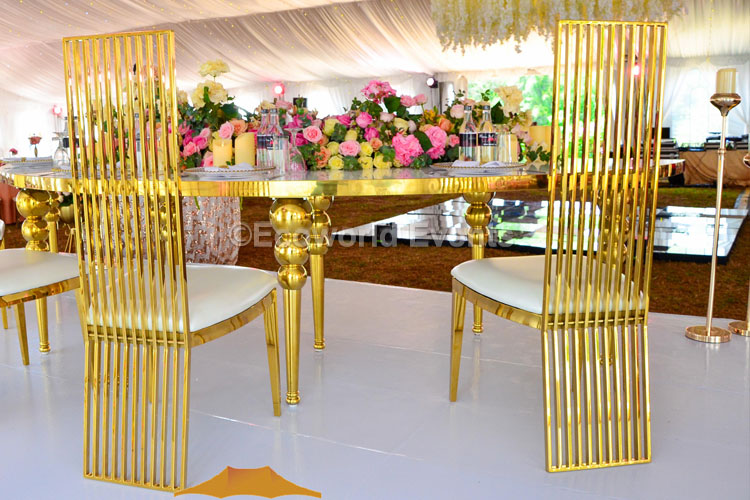 Ecoworld Banquet gold1 - Chairs hire in Kenya