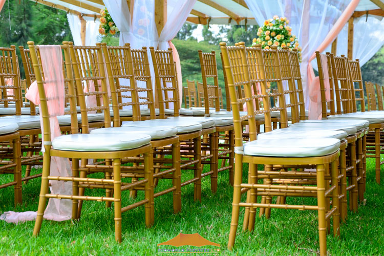 Ecoworld Chiavari gold - Chairs hire in Kenya